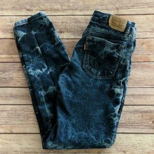 Levi's 710 Super Skinny Tie Dye Jeans